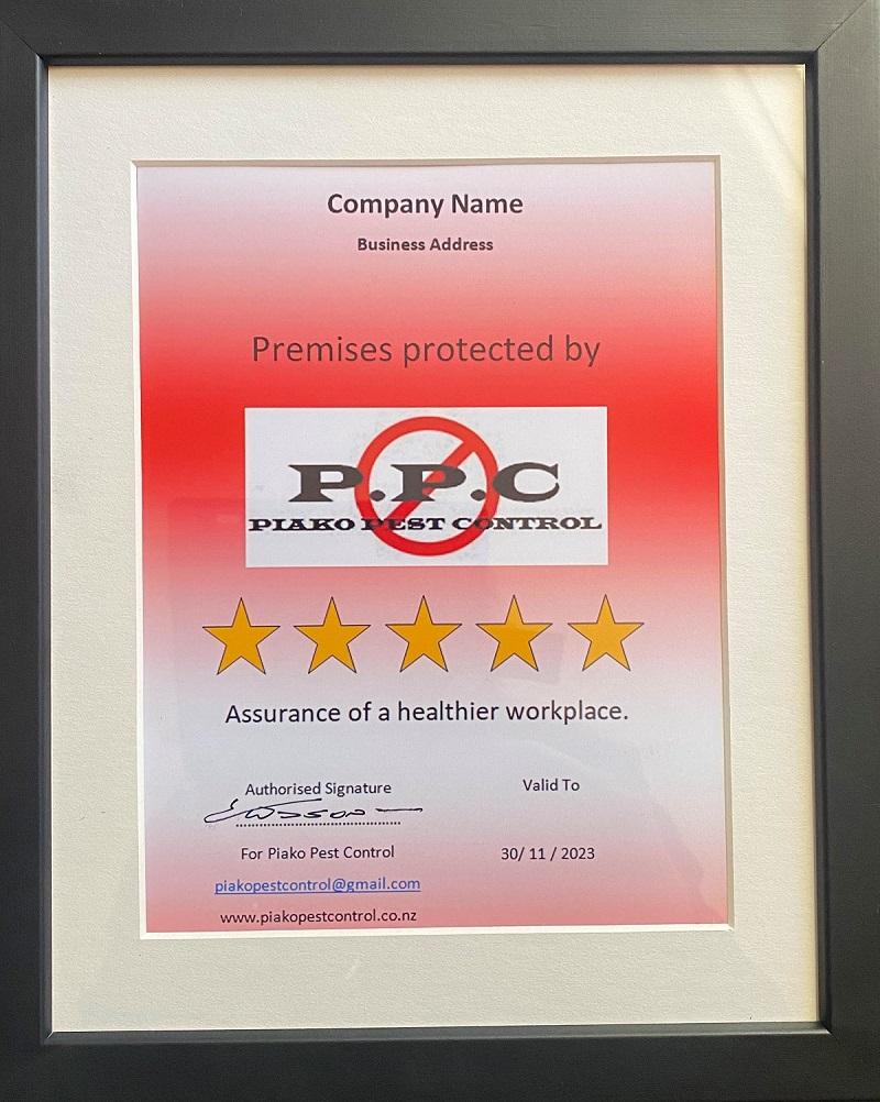 Certificate sample 1
